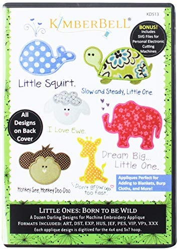 - Kimberbell Little Ones Born to be Wild Pattern CD Multicolor