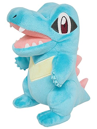 TONGROU Official Totodile Plush Toy by SANEI Pocket Monster Doll Kid Gift (Toon Squad Costume)