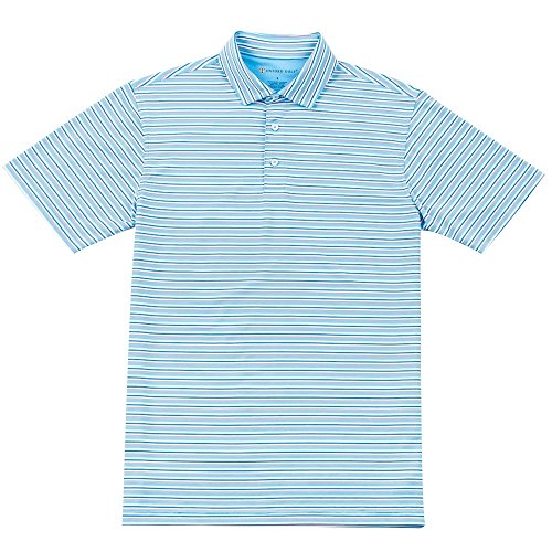 - Oxford Banks Coolmax Multi Stripe Jersey Golf Polo 2017 Bonnie Blue X-Large
