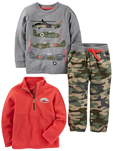Simple Joys by Carter's Baby Boys' Toddler 3-Piece Playwear Set, Camo, 2T