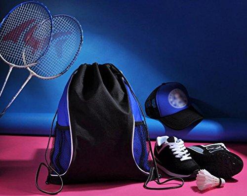 WeiMay - Bolso mochila  para mujer azul y negro 45*34cm
