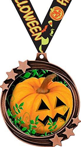 Halloween Pumpkin Medal - 2 1/2
