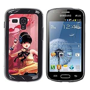 Be Good Phone Accessory // Dura Cáscara cubierta Protectora Caso Carcasa Funda de Protección para Samsung Galaxy S Duos S7562 // Cute Smoking Girl