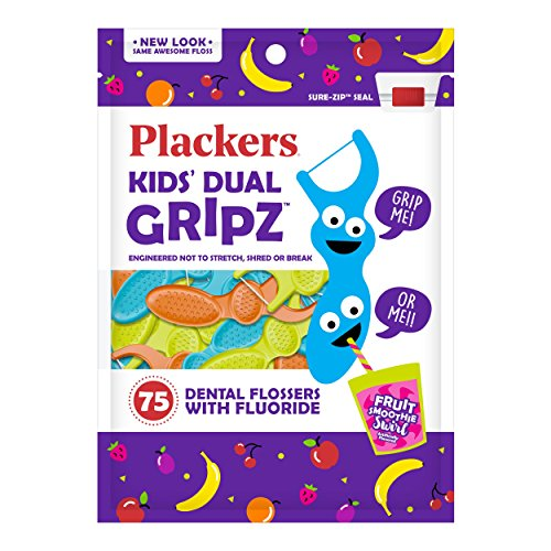 Plackers Kids Dental Floss Picks, 75 Count (Pack of 4) - Kids Tooth