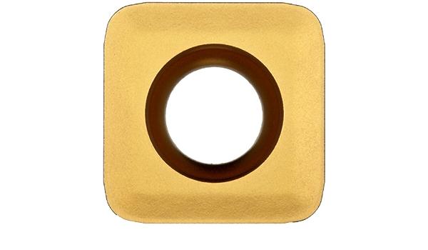 Sandvik Coromant COROMILL Carbide Milling Insert GC1020 Grade R590110508HKL,0.197 Thick 0.031 Corner Radius Pack of 10 Diamond TiAlN Coating R590 Style