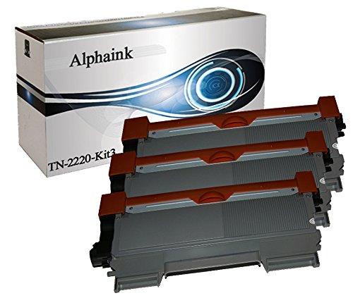 Alphaink KIT-3-AI-TN2220 3 Toner compatibili per Brother TN2220 TN2010 HL-2240D HL2230 HL2240 HL2240D HL2240L HL2250 HL2250N HL2250DN HL2270DW MFC7360N MFC7460DN MFC7860DW DCP7060D DCP7065DN HL2130 HL2132 HL2135W DCP7055 DCP7057