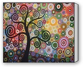 Womens Abstract Tree Print Scarf Abstract Tree Plant Monochrome Circles Shawl