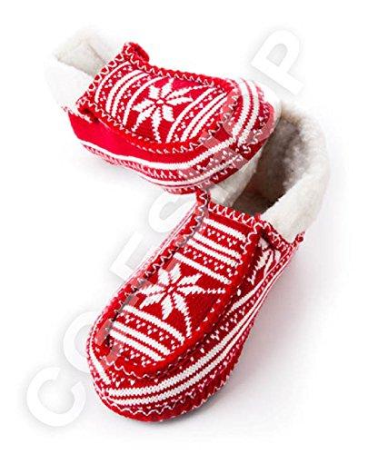 promo code 25272 973c7 Confezioni Giuliana Pantofole Ciabatte Stile Tirolese Rosse Ideali per  Regalo di Natale SML XL (M - 38/39)