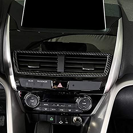 Black Carbon Fiber HIGH FLYING f/ür Eclipse Cross 2018 2019 Interieur Vordere Gitter Dekor 1 St/ück ABS Kunststoff