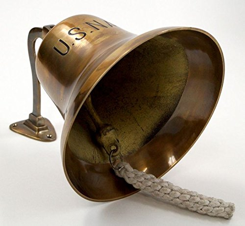 Brass ''Us Navy'' Bell, Antique Finish
