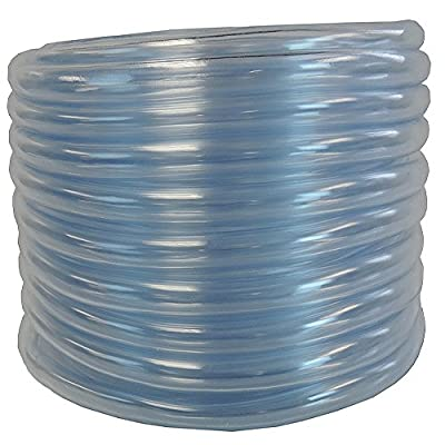 1/2 ID x 5/8 OD x 100 ft HydroMaxx® Flexible PVC Clear Vinyl Tubing. BPA Free and Non Toxic
