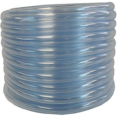 3 8 ID X 1 2 OD X 100 Feet Hydromaxx Flexible PVC Clear Vinyl Tubing BPA Free And Non Toxic