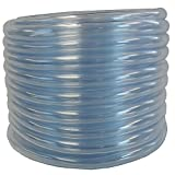 (US) HydroMaxx 1403038050 Flexible PVC Clear Vinyl Tubing. BPA Free and Non Toxic, 3/8