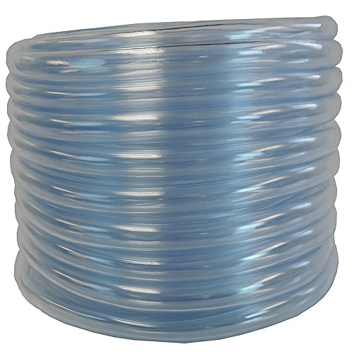 1/4 ID x 3/8 OD x 100 ft HydroMaxx® Hydromaxx Flexible PVC Clear Vinyl Tubing. BPA Free and Non Toxic