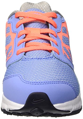 Nike Downshifter 6 (GS/PS) Scarpe Sportive, Ragazza Multicolore (Chlk Blue/Mtllc Slvr-brght Mng)