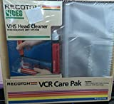 vhs head cleaning kit - VHS Head Cleaner Non Abrasive Wet System VCR Care Pak
