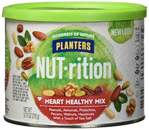 Healthy Heart Snack - Planters Mixed Nuts, Heart Healthy Mix, 9.75 Ounce (Pack of 3)