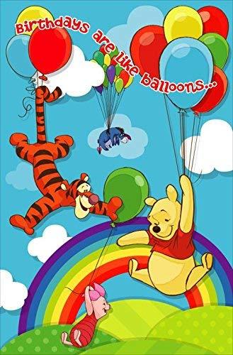 Disney Winnie The Poh cumpleaños are like balloons. Tarjeta ...