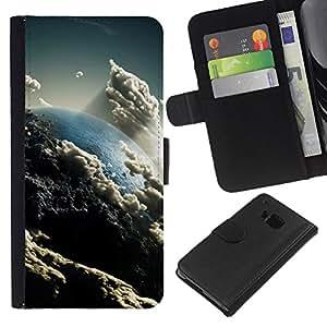 """Be-Star la tarjeta de Cr¨¦dito Slots PU Funda de cuero Monedero caso cubierta de piel Para HTC One M9 ( Nubes Cielo Arte Tierra Sun Ambiente"""" )"""