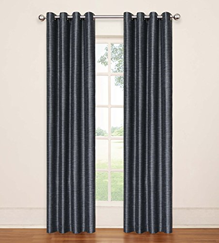 Eclipse 13746052084LAK Deron 52-Inch by 84-Inch Blackout Grommet Single Window Curtain Panel, Lake