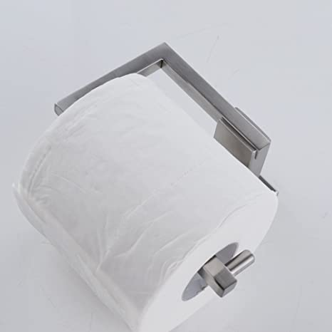 kes sus 304 stainless steel toilet paper holder storage rustproof bathroom paper towel dispenser tissue roll hanger contemporary square style wall mount
