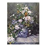 Posters: Pierre Auguste Renoir Poster Art Print - Big Vase With Flowers, 1866 (20 x 16 inches)