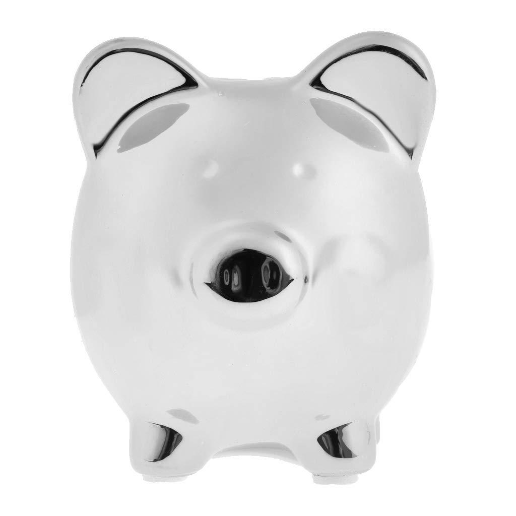 9.9x8.4x9.7cm Prettyia Ceramic Money Box Pots Savings Fund Save Coins Piggy Bank for Children Pink