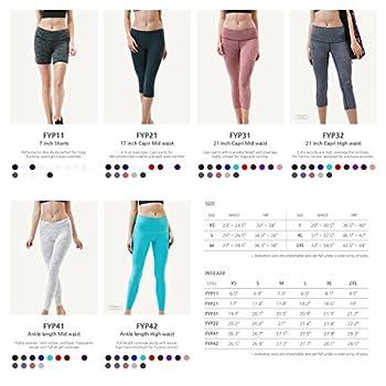 "Tesla Tm-fys11-blk_small Shorts 7"" Bike Running Yoga W Hidden Pockets Fys11 6"