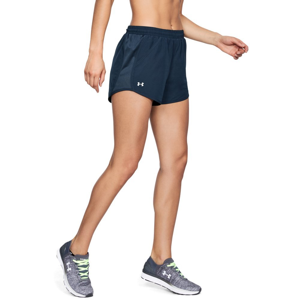 Under Armour Women's Fly-By Shorts, Academy /Reflective, X-Small