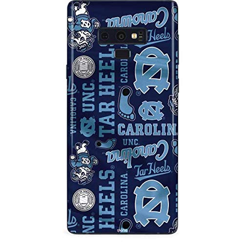 Skinit North Carolina Tar Heels Print Galaxy Note 9 Skin - Officially Licensed College Phone Decal - Ultra Thin, Lightweight Vinyl Decal Protection