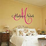 Childrens Decor Baby Nursery Wall Decal - Monogram Vinyl Wall Lettering Art Decal - Madison Name
