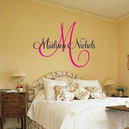 Nursery Wall Decal - Monogram Vinyl Wall Lettering Art Decal - Madison Name ()