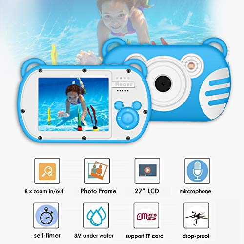 Kids Camera Waterproof Underwater Video Cameras for Snorkeling,Waterproof Underwater Digital Cameras for Kids--Holiday,Trip,Camping by Suntak (Image #3)