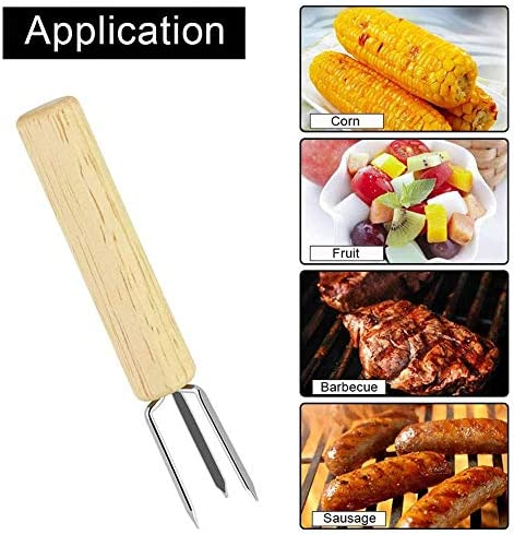 lffopt Brochettes pour Barbecue Barbecue Brochettes Longues Brochettes BBQ Kebab Brochettes Brochettes Alimentaire Brochettes Brochettes pour Griller 8pcs