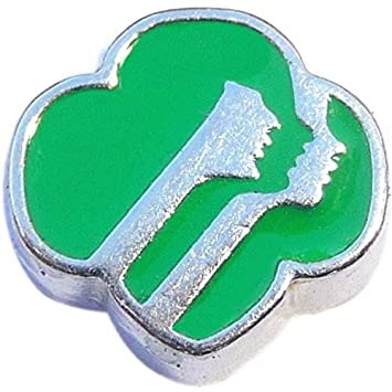 Amazon Girl Scout Logo Floating Locket Charm Health Personal