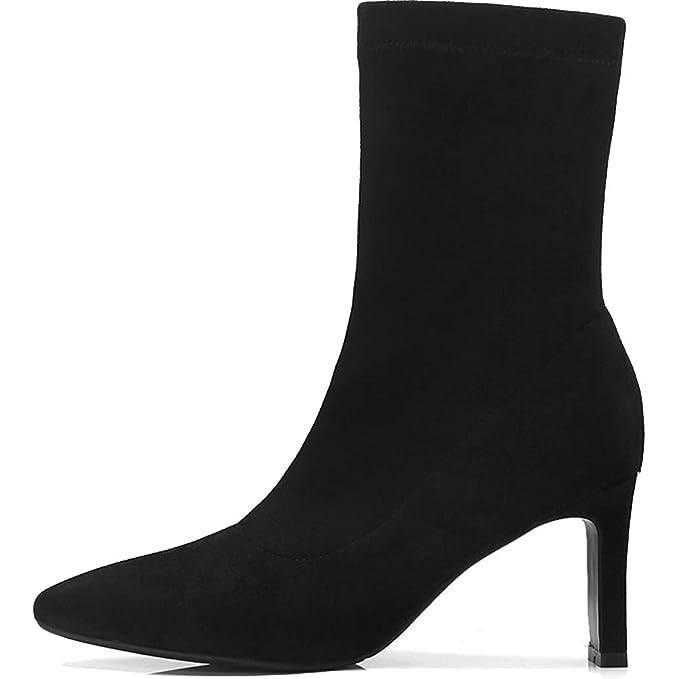 stivali neri donna suede tacco