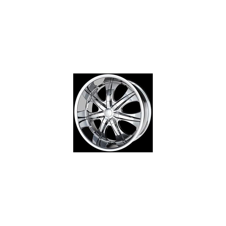New 18 x 7.5 inch Velocity 725 Chrome Wheels Rims