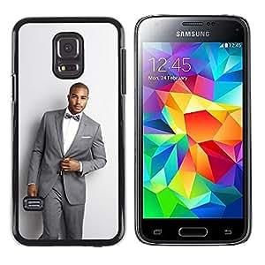Shell-Star Arte & diseño plástico duro Fundas Cover Cubre Hard Case Cover para Samsung Galaxy S5 Mini / Samsung Galaxy S5 Mini Duos / SM-G800 !!!NOT S5 REGULAR! ( Man Suit Handsome Bowtie Fashion Trendy )
