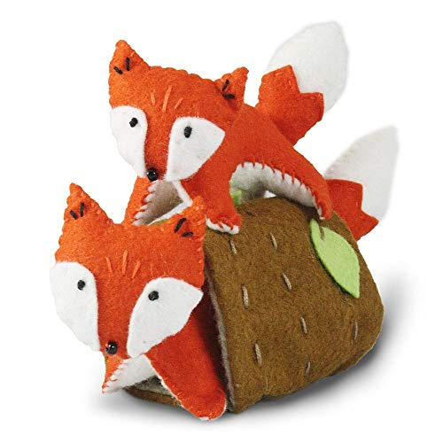 Heidi Boyd | Frisky Foxes | Whimsy Kits | Enjoy Creating Adorable Fox Friends with This All Inclusive Felt Craft Sewing Kit Age 13+