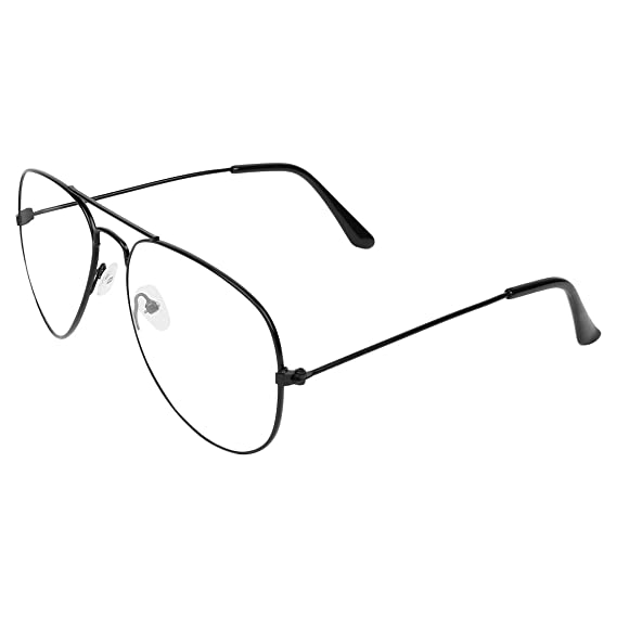 bad1a6d9c2 Zyaden Black Aviator Unisex Eyewear Frame 321  Amazon.in  Clothing    Accessories
