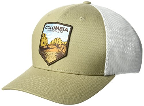 Columbia Men's Mesh Ball Cap, Tusk Desert Patch, Large/X-Large