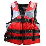Life Jacket with Whistle Adult Lifejacket Aid Sea Sailing Boating Swimming Live Vest + Waterproof Swim Nose Clip Earplug