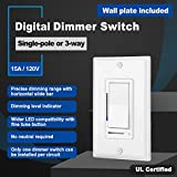 (5 Pack) CML Digital Dimmable Switch, 3-Way or
