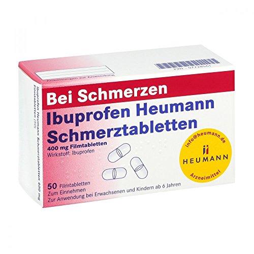 Ibuprofen Heumann Schmerztabletten 400 mg, 50 St