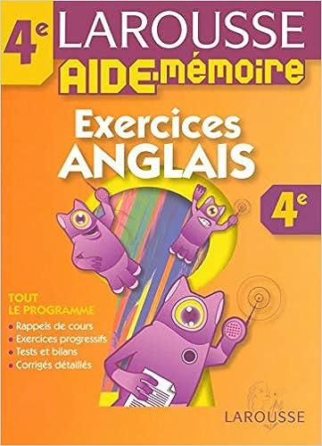 Amazon Fr Aide Memoire Colleges Anglais 4eme Larousse Livres