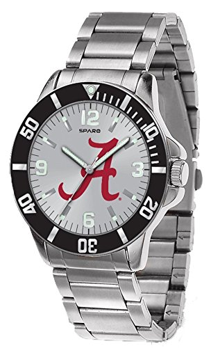 Rico (DEAD) Alabama Crimson Tide NCAA Key Watch with Stainless Steel Band