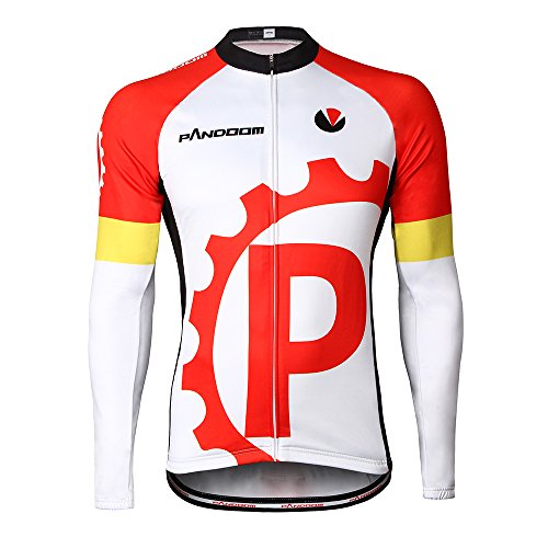 PANDOOM Outdoor Sports Men's Windproof Long Sleeves Winter Fleece Thermal Cycling Bicycle Jersey Jacket Szie - Cycling Team Mexico Jersey