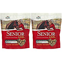Manna Pro Senior Snax Treats for Horses, 2 Pounds (Pack of 2)