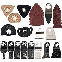HAOLI 66 pcs/set Oscillating Tool Saw Blades For Fein Multimaster,Dremel,Bosch Makita and More (HL66-1(66pcs))