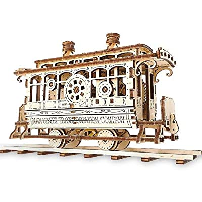 UGears - Wooden Puzzle - Disney Parks - Main Street U.S.A. Trolley: Toys & Games